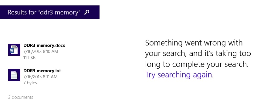 Windows search feature disabled