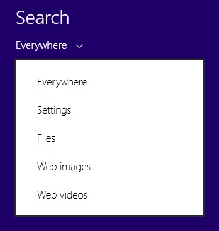 Select search option